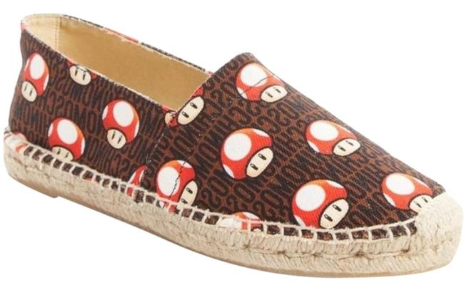 Item - Brown Super Mario Mushroom Espadrilles Flats Size US 6 Regular (M, B)
