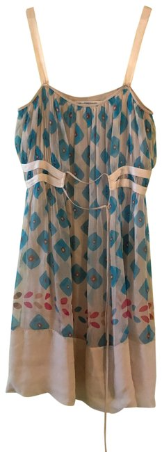 Item - Multicolor Printed Silk Short Casual Dress Size 8 (M)