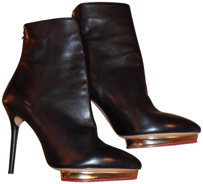 Item - Black Leather Lucinda Platforms Ankle High He Boots/Booties Size US 7 Regular (M, B)