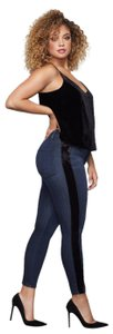 Good American Crop High Waist High Rise Stretch Denim Skinny Jeans-Dark Rinse