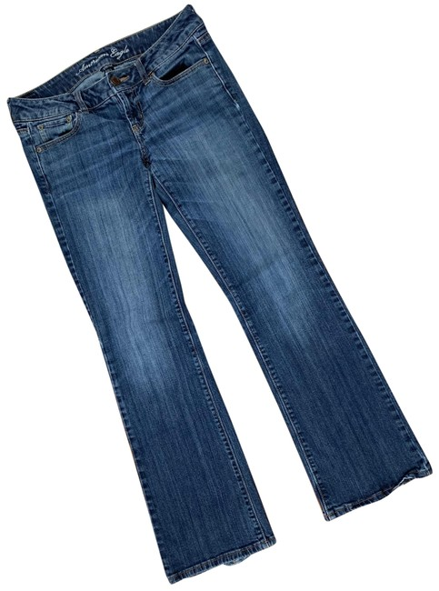 American Eagle Outfitters Blue Dark Rinse Boyfriend Cut Jeans Size 4 (S, 27) American Eagle Outfitters Blue Dark Rinse Boyfriend Cut Jeans Size 4 (S, 27) Image 1