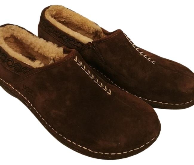 Item - Brown Suede Shearling Slip On Mules/Slides Size US 8 Regular (M, B)