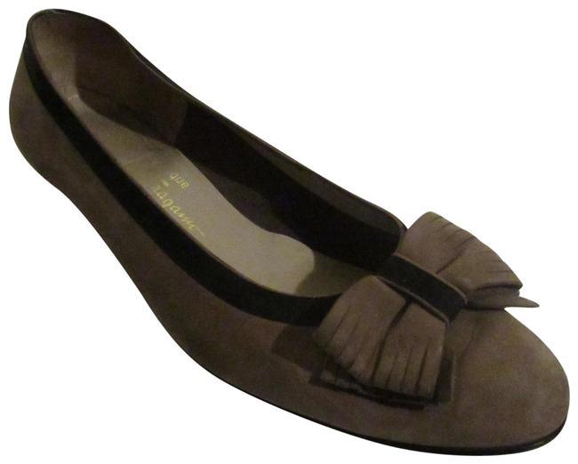 Item - Brown/Black Suede W Bows Vara Bow Flats Size US 8.5 Wide (C, D)
