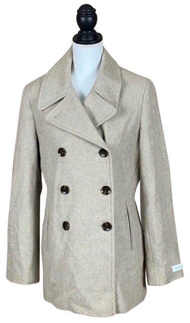 Item - Tan Wool Blend Women's Tan/Beige Double Breasted Coat Size 12 (L)