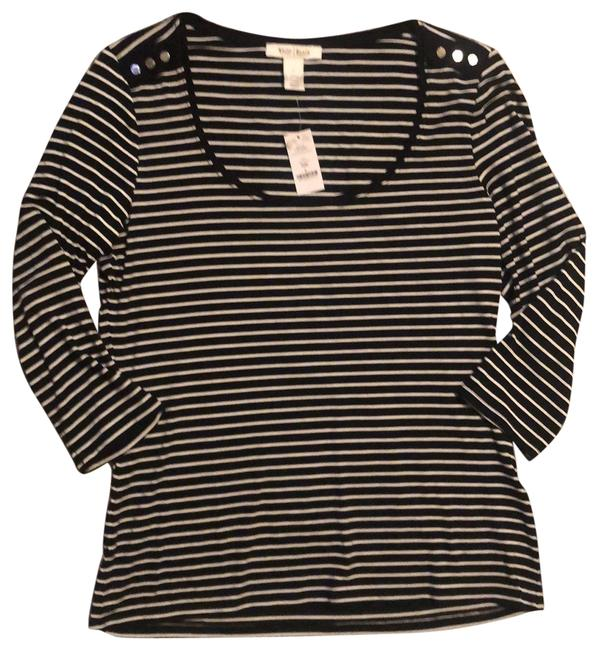 Item - and Striped Silver Buttons Tunic Size 12 (L)