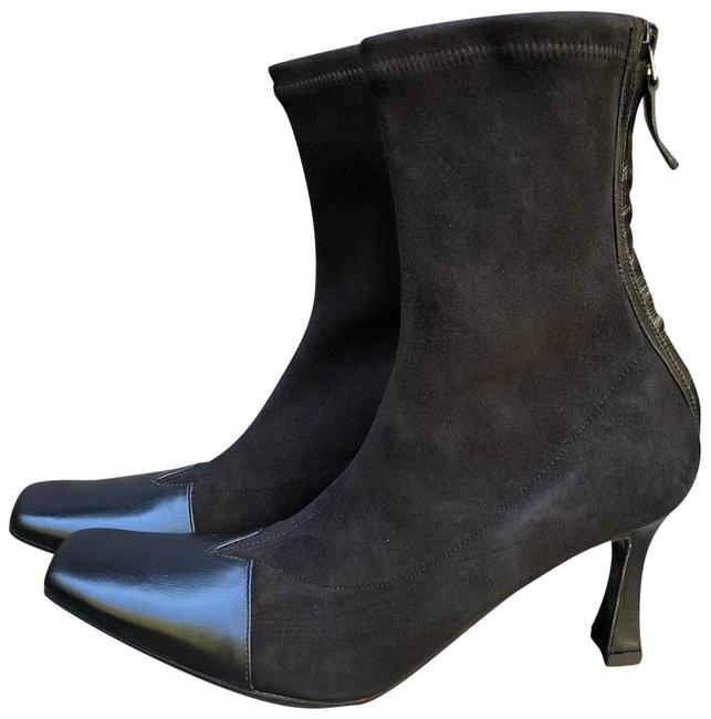 Item - Black New Square Toe Leather and Suede Ankle Boots/Booties Size EU 37.5 (Approx. US 7.5) Regular (M, B)