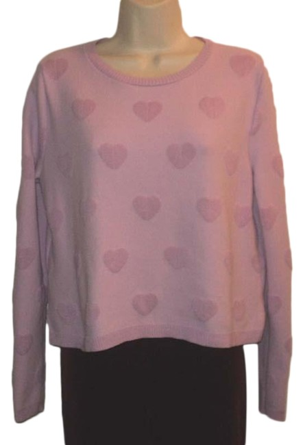 Item - Heart Design Lilac-pink Lilac Sweater