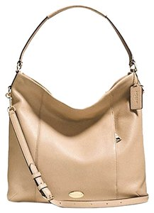 Coach Leather Handbag Beige Hobo Bag