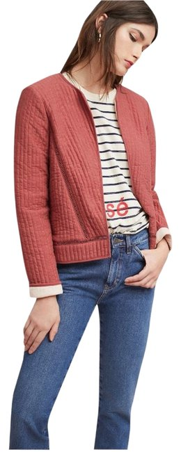 Item - Coral Pink Akemi + Kin Quilted Jacket Size 8 (M)