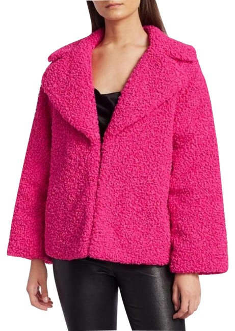 Item - Bright Pink Thora Oversized Faux Fur Jacket Size 4 (S)