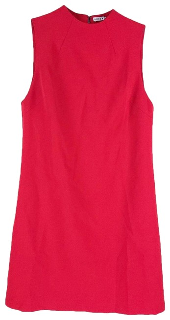 Item - Red Sleeveless Mid-length Short Casual Dress Size 4 (S)