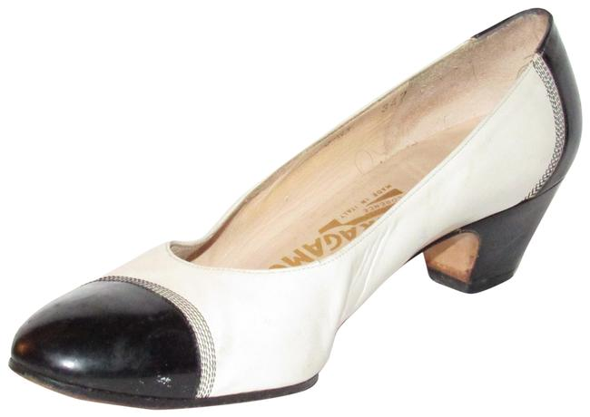 Item - Ivory & Black Leather Spectator Heels/Shoes Pumps Size US 6.5 Regular (M, B)
