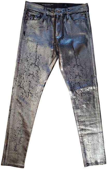 Item - Silver Distressed Skinny Jeans Size 29 (6, M)