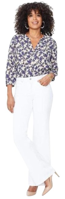 Item - White Cream Trouser/Wide Leg Jeans Size 35 (14, L)