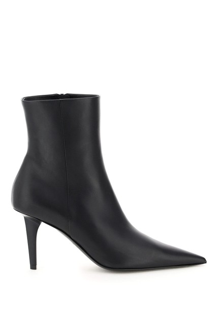 Item - Black Sn Knife Leather Ankle Boots/Booties Size EU 37 (Approx. US 7) Regular (M, B)