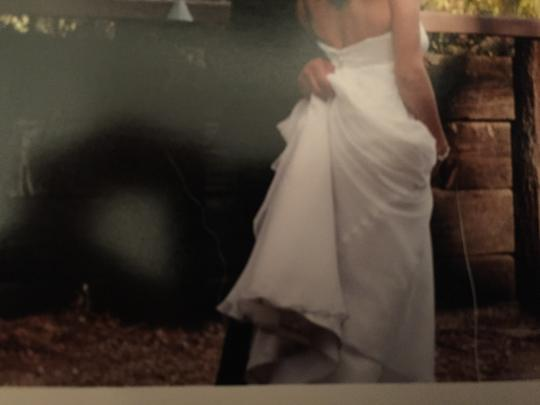 Ivory Chiffon and Satin One Of A Kind Feminine Wedding Dress Size 2 (XS)