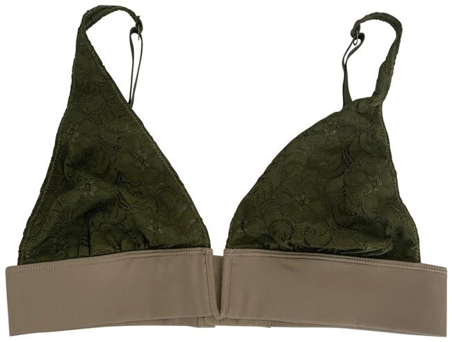 Item - Lace Bralette with Satin Trim. Size S. Olive Top
