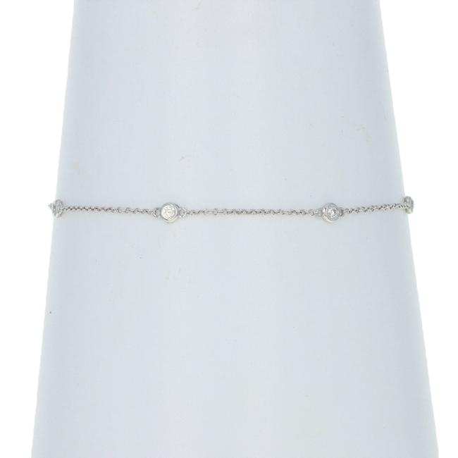 Wilson Brothers Jewelry White Gold Diamond Cable Chain Station 14k Round .30ctw Bracelet Wilson Brothers Jewelry White Gold Diamond Cable Chain Station 14k Round .30ctw Bracelet Image 1