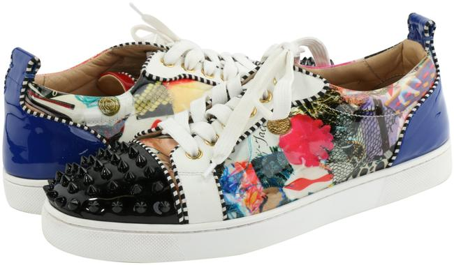 Item - Multicolor Louis Junior Spikes Printed Patent Leather Sneakers Size EU 39.5 (Approx. US 9.5) Regular (M, B)