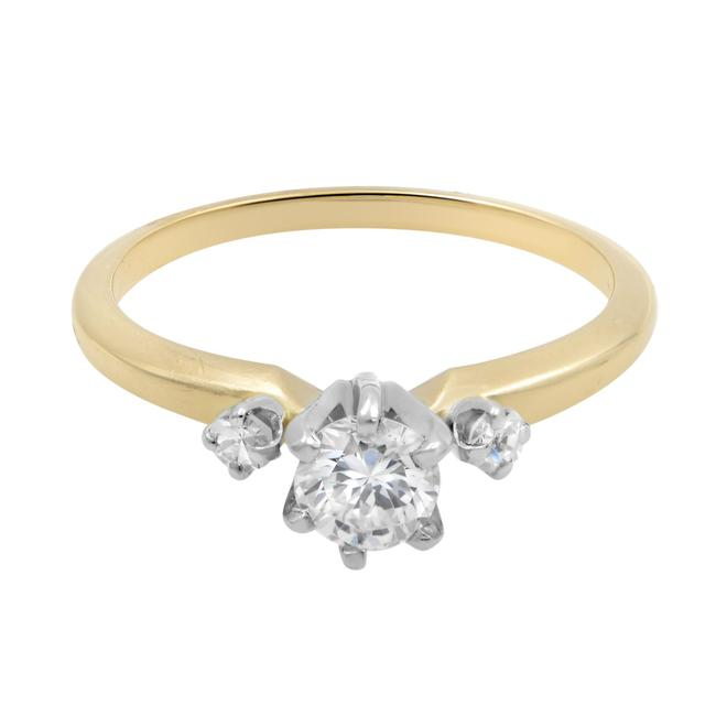 Item - 14k Yellow Gold Thee Stone Engagement 0.50cttw Size 6 Ring