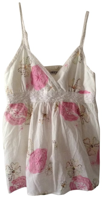 GRIFFLIN PARIS Cute Embroidered Top white & pink multi