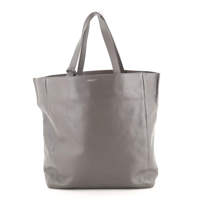 Item - Reversible North South Shopper Studded Gray Leather Tote