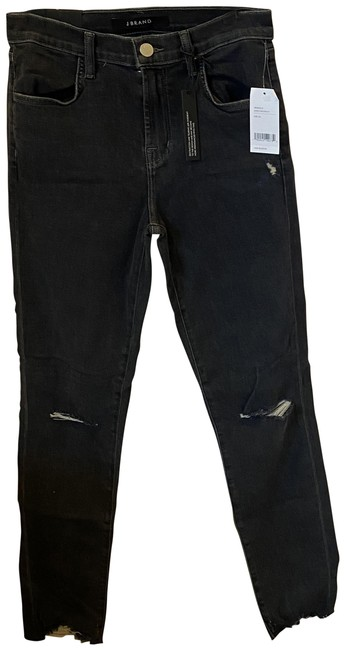 Item - Ashes Destruct Distressed Alana High Rise Crop In Skinny Jeans Size 26 (2, XS)