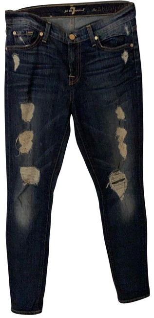 Item - Distressed The Skinny Jeans Size 6 (S, 28)