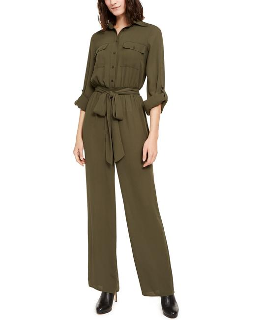Item - Green XS A173 Belted Utility Romper/Jumpsuit
