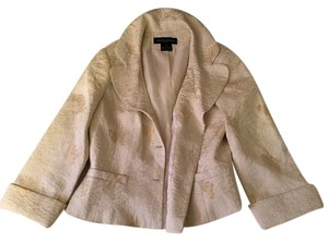 Jones New York Vintage Wedding Jones New York Silk Ivory Gold Top Jacket
