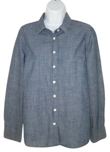 J.Crew Cotton Dotted Chambray Button Down Shirt