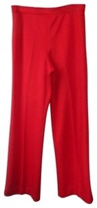 Talbots Touche Wide Leg Pants Red