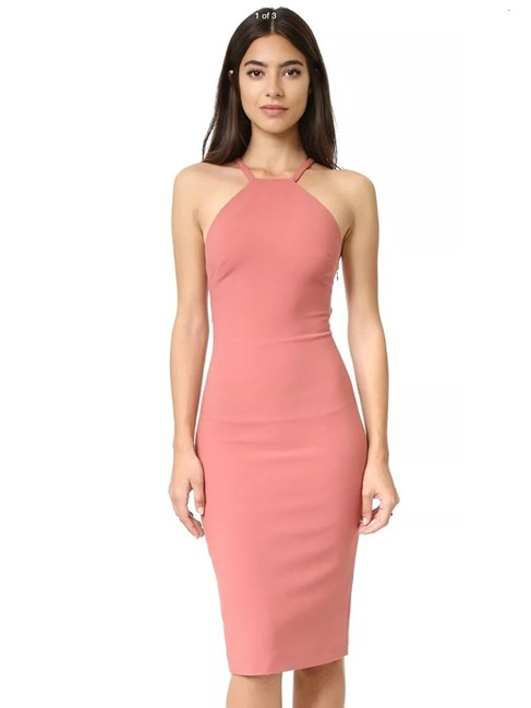 Item - Dusty Rose Angel Crepe O-ring Mid-length Night Out Dress Size 0 (XS)