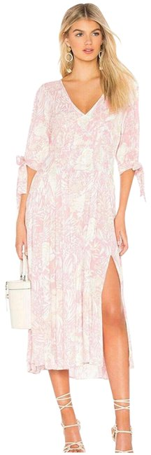 Item - Pink White Nwot Floral Pintuck Long Casual Maxi Dress Size 2 (XS)