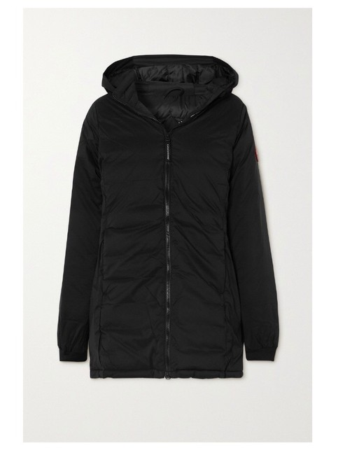 Item - Black Camp Hooded Ripstop Down Jacket Coat Size 2 (XS)