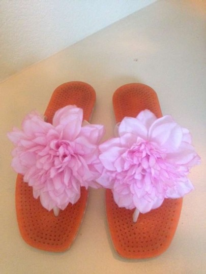 Kate Spade Pink and Orange with White detail Sandals