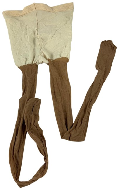 Item - Brown Pinup 2 Tone Opaque Nude Panty Hose Hosiery