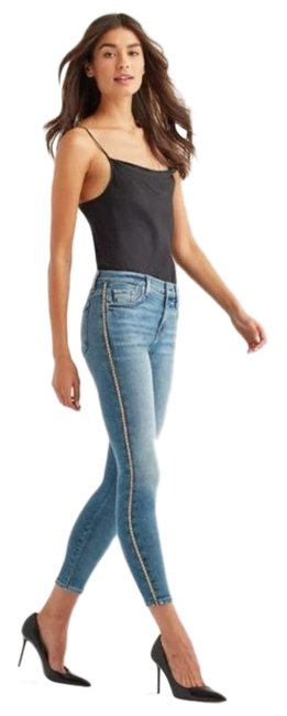 Item - Blue White Light Wash Luxe Skinny Jeans Size 29 (6, M)