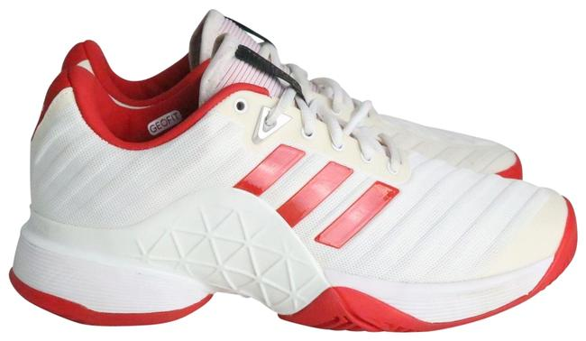 Item - White & Red Tennis Style Sneakers Size US 7.5 Regular (M, B)