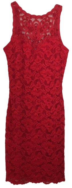 Item - Red Lace Night Out Dress Size 4 (S)