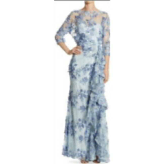 Item - Black 3/4-sleeve Embroidered Floral Lace Gown Long Casual Maxi Dress Size 2 (XS)