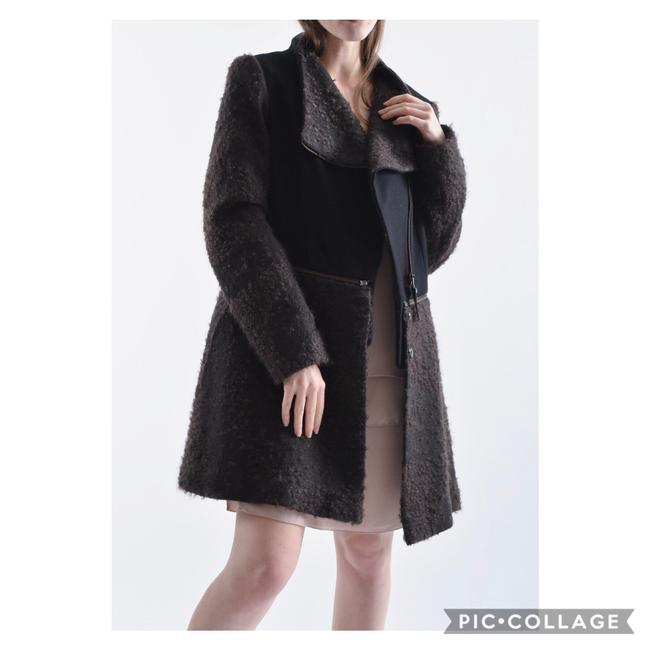 Item - Black and Brown Mixed Media Convertible Coat Size 2 (XS)