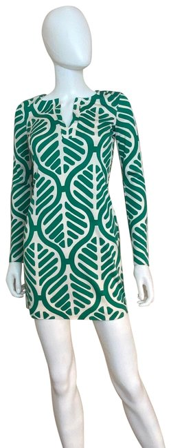 Item - Green Vintage Print Short Casual Dress Size 0 (XS)
