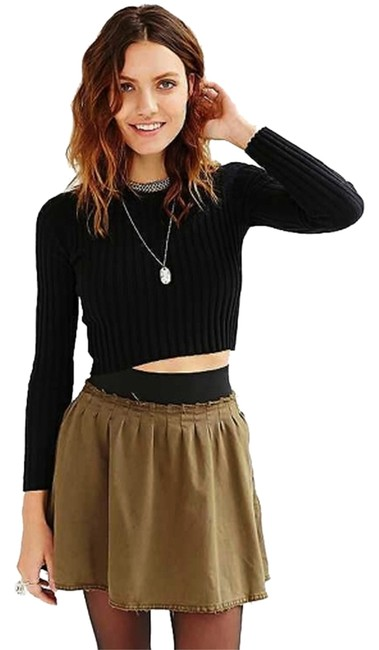 Silence + Noise Urban Outfitters + And & Mini Skirt green