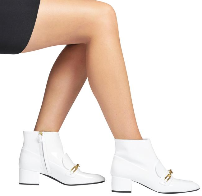 Item - White Chettle 45 Chain Link Patent Leather Boots/Booties Size US 8 Regular (M, B)