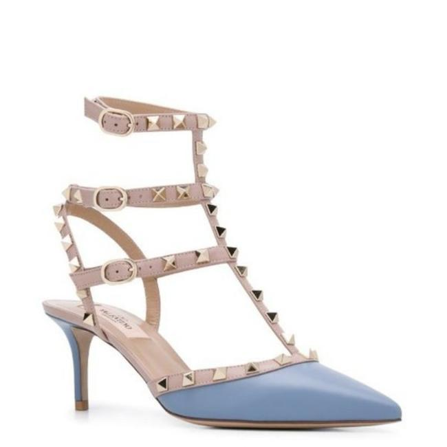 Item - Blue Pink Rockstud 70mm Strappy Pumps Size EU 36 (Approx. US 6) Regular (M, B)