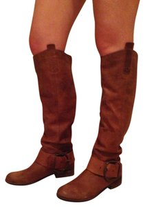 Steve Madden Boot Western Fall Leather Chestnut/ Brown Boots