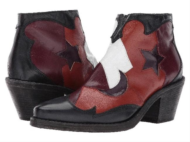 Item - Multicolor Patchwork Soltice Boots/Booties Size US 6 Regular (M, B)