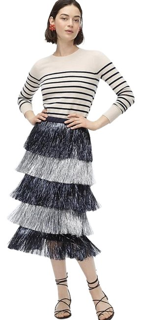 Item - Navy Silver Collection with Tassel Fringe Skirt Size 10 (M, 31)
