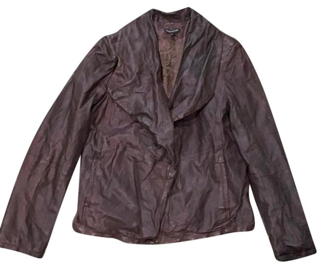 Item - Brown Open Front Distressed Jacket Size 6 (S)